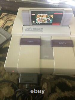 Super Nintendo SNES System Console With 2 OEM Controllers & 4 Games Tested