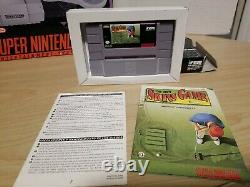 Super Nintendo SNES System Control Set Console & Games Original BOX Works