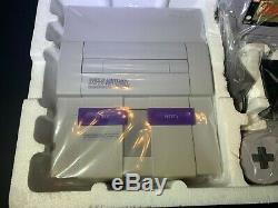 Super Nintendo SNES System Game Console Zelda Bundle Open Box