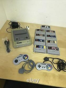 Super Nintendo (SNES) bundle with all cables, 9 games, 2 controllers Old school