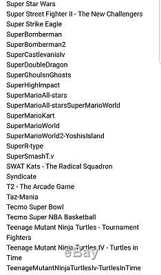 Super Nintendo SNES mini classic with 200+ extra games UK SELLER FAST DISPATCH