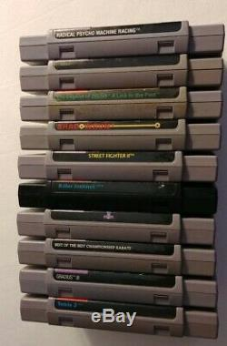 Super Nintendo SNES video game lot-10 games-Uncommon Titles! Shadowrun, Zelda, e