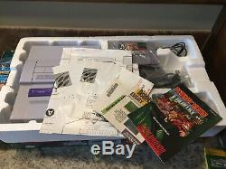 Super Nintendo Snes Donkey Kong Country BOX Set CIB Console Game include