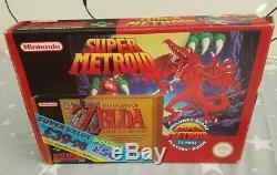 Super Nintendo Snes Zelda Metroid Double Pack Rare