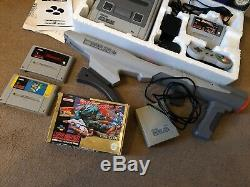 Super Nintendo Starwing Boxed Console Bundle Street fighter 2 Scope & GAMES SNES