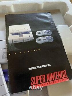 Super Nintendo System Console Complete Box SNES with Zelda Bundle