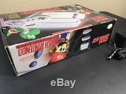 Super Nintendo System Model 2 Console Complete Box SNES CiIB Mini Jr Junior