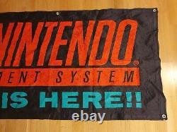 Super Nintendo is here SNES Banner Store Display Sign NES Super Mario