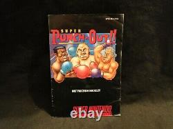 Super Punch Out Super Nintendo SNES 1994 Complete CIB With NEW BOX, Manual, Dust