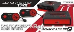 Super Retro Trio NEW PAL 3in1 Nintendo NES SNES Sega Megadrive Videogame Console