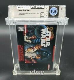 Super Star Wars (Super Nintendo, 1992) SNES Wata Graded 9.0 A+ Sealed