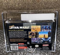 Super Star Wars VGA 90 GOLD! SNES V-SEAM RARE MINT BLACK LABEL! Super Nintendo