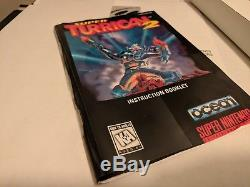 Super Turrican 2 SNES Super Nintendo CIB Complete Rare Authentic