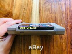 Super Turrican 2 (Super Nintendo SNES 1995) AUTHENTIC VERY RARE