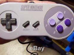 Super nintendo SNES Video system console 10 games 2 controllers clue Madden