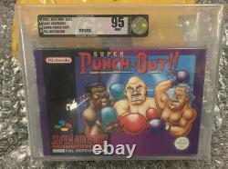 Super punch out Snes Super Nintendo Sealed high grade vga 95