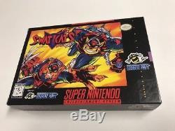 Swat Kats (Super Nintendo SNES) 100% Complete CIB Very Rare Ex