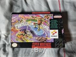 TMNT IV Turtles in Time (Super Nintendo SNES) CIB Complete in Box Authentic