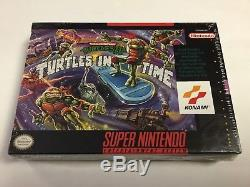 TMNT Turtles In Time Super Nintendo SNES NEW FACTORY SEALED First Print V-SEAM