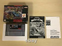 Teenage Mutant Ninja Turtles In Time Super Nintendo SNES Game Complete CIB