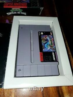 Teenage Mutant Ninja Turtles in Time IV 4 TMNT Super Nintendo SNES Complete CIB