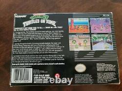 Teenage Mutant Ninja Turtles in Time Snes Super Nintendo Complete in Box Rare