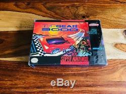 Top Gear 3000 Super Nintendo SNES 1995 CIB Complete Box Manual Poster Reg 100%