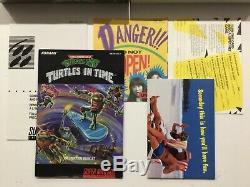 Turtles In Time CIB 100% Complete Near Mint Super Nintendo SNES CIB Complete