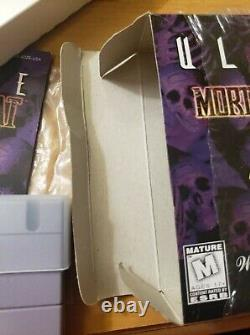 Ultimate Mortal Kombat 3 (SNES Super Nintendo) AUTHENTIC CIB Complete Box Manual
