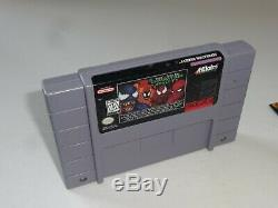 Venom-Spider-Man Separation Anxiety (SNES) Super Nintendo CIB Complete Box 1995
