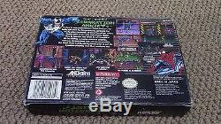 Venom-Spider-Man Separation Anxiety Super Nintendo SNES Game Complete CIB