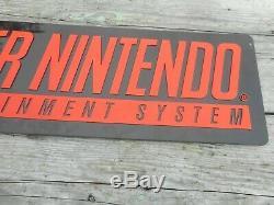 Vintage Retro Original SUPER NINTENDO SNES VIDEO GAME Store Advertising SIGN