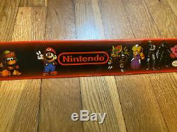 Vintage SNES Super Nintendo Mario RPG Legend Seven Stars Store Display Sign
