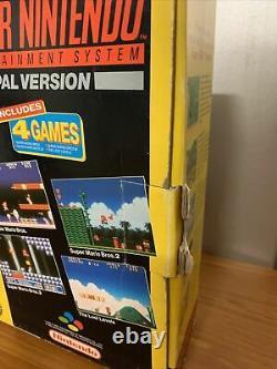 Vintage Super Nintendo SNES Console Super Mario All Stars Set BOXED WORKING