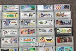 WHOLESALE LOT of 70 Nintendo Super Famicom Games SFC SNES Japan Import LOT#7