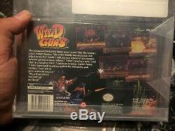 WILD GUNS (SNES Super Nintendo) NEW SEALED V-SEAM MINT, VGA 80 Very Very Rare