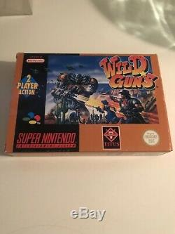 Wild Guns Complete Super Nintendo Snes EUR Good Condition