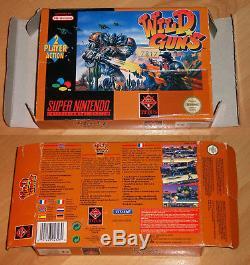 Wild Guns SNES EUR Super NES Nintendo PAL CIB OVP VGC TOP GAME RAR