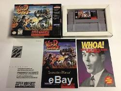Wild Guns Super Nintendo SNES CIB Complete 100% Authentic