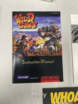 Wild Guns Super Nintendo Snes CIB Complete Great Shape! See Photos