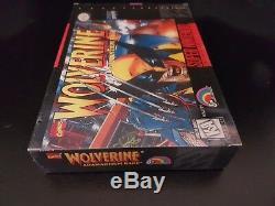 Wolverine Adamantium Rage SNES Super Nintendo Brand New Factory Sealed