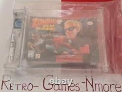Zombies Ate My Neighbors Super Nintendo SNES NEW SEALED WATA Graded RARE VARIANT