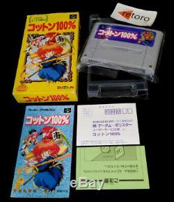 100% Coton Magique Super Famicom Aventure Nintendo Snes Sfc Jap
