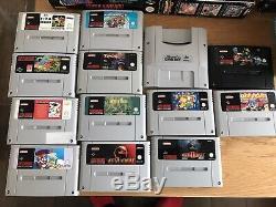 13x Super Nintendo Snes Job Lot Bundle Jeux Boxed