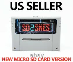 1800 En 1 Sd2snes Rev X Super Nintendo Snes Flash Cartouche 16 Go Carte Mémoire Ed
