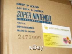 1 Asterix E Obelix Super Nintendo Snes & Version Pal Nouveau Top Scelle Tres Rare