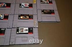 23 Super Nintendo Snes Game Collection Lot En Vrac Avec Des Jeux Vidéo Seulement (no Case)