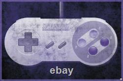 269124 Super Nintendo Controller Jeux Vidéo Snes Mario Poster Uk