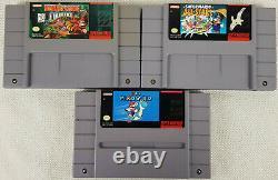 2 X Mario & Donkey Kong Country Super Nintendo Video Games, Snes, États-unis Versions