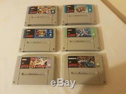 6 Jeux Snes Panier Bundle / Super Nintendo / Original Et Rare État De Collecteur